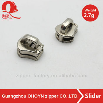 Fashion metal slider head for bag in guangzhou