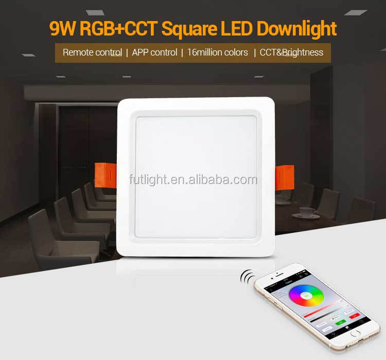 sports shoes dcc2b 2f2cc Smart Ultra Slim Trimless Fire Rated Spot Recessed 9w Led Panel Square  Downlight Rgb+cct Adjustable - Buy Led Panel Square Downlight,Square ...
