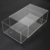 plastic shoe boxes clear acrylic material custom size print