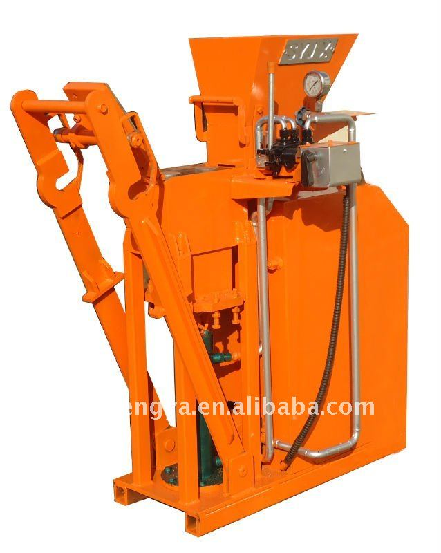 SY-2 Manual clay Or Soil+Cement interlocking Brick Machine