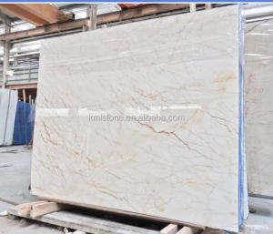 Top Cream With Gold Veins Marble