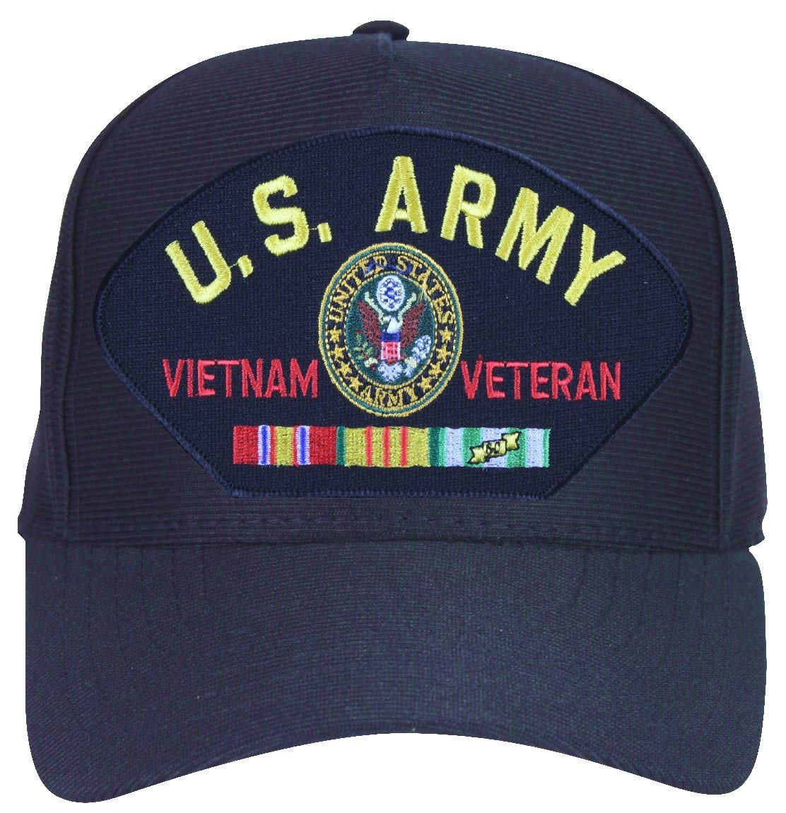 0ec62cf7ae0 Get Quotations · MilitaryBest U.S. Army Vietnam Veteran with Licensed Logo  and Ribbons Ball Cap