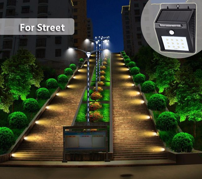 sunlight directly 4 LED Outdoor Garden Spot Lights