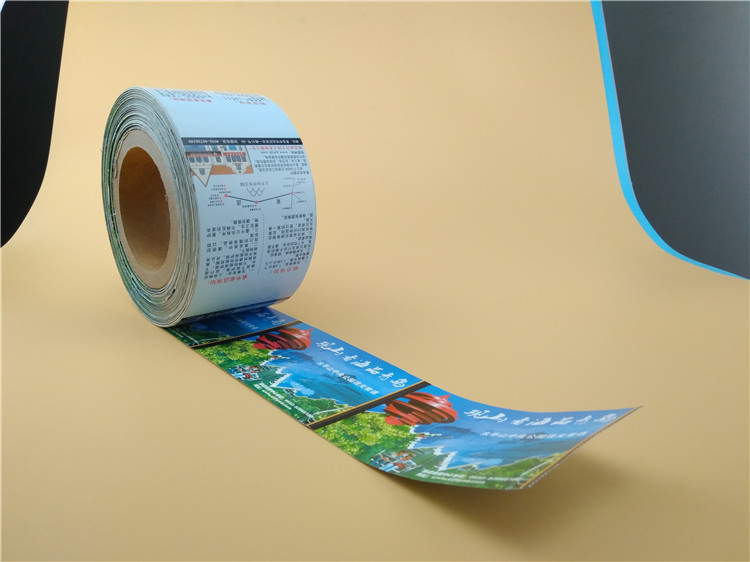 Factory directly custom self adhesive printing label, PVC vinyl sticker, roll label sticker print