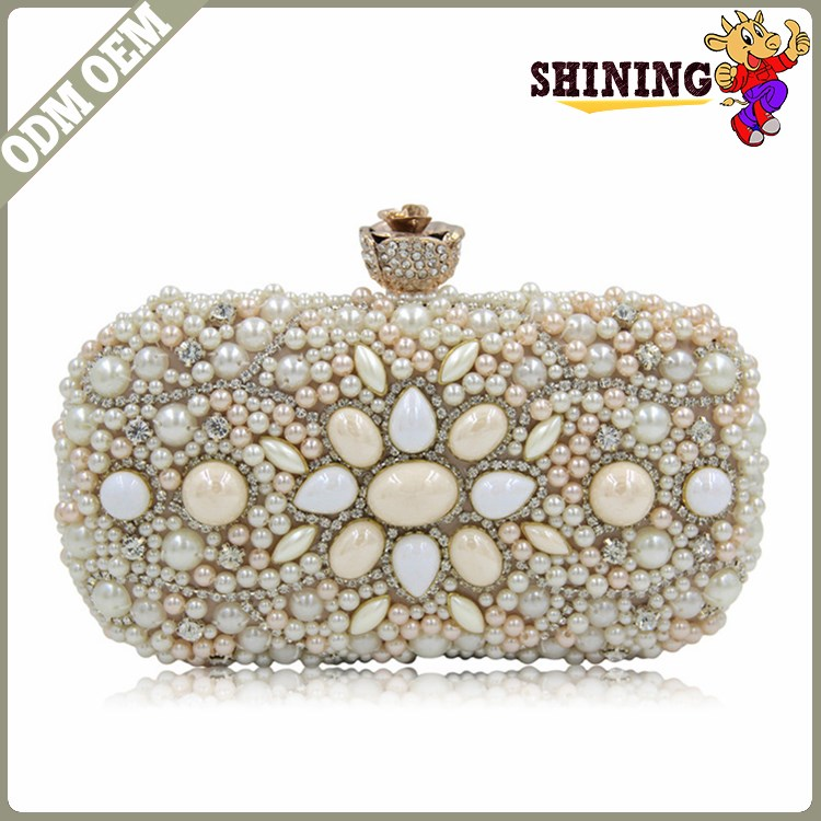 Hot Sale Stereotyped Clutch Purse Luxury Crystal Acrylic Clutch Bag Women Evening Bags Ladies