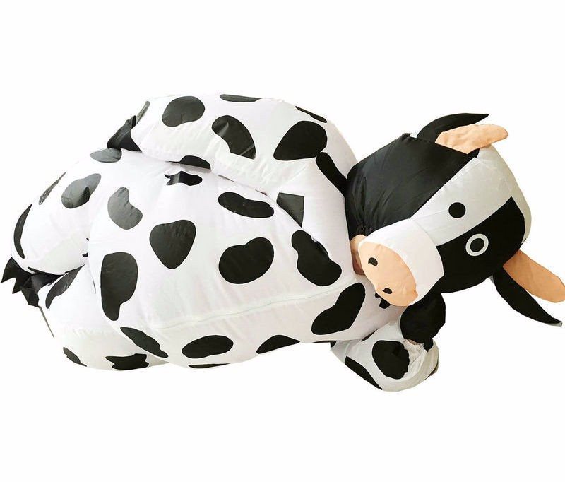 INFLATABLE COW ANIMAL FUNNY ADULT MENS FANCY DRESS HALLOWEEN COSTUME