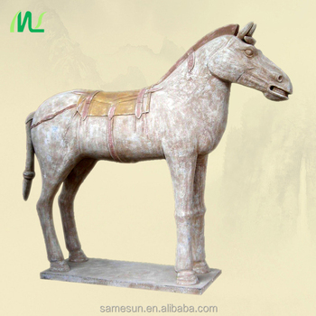 Meilun Art Crafts Antique Terracotta Horse Statue Home Decoration Collection Terracotta Clay Manufacturer Hot Sale horse Statue