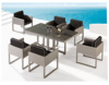 Best Products Outdoor Patio Furniture 7-piece Steel Dining Table Set And 6 Chairs Set W/ Removable Outdoor Furniture Set