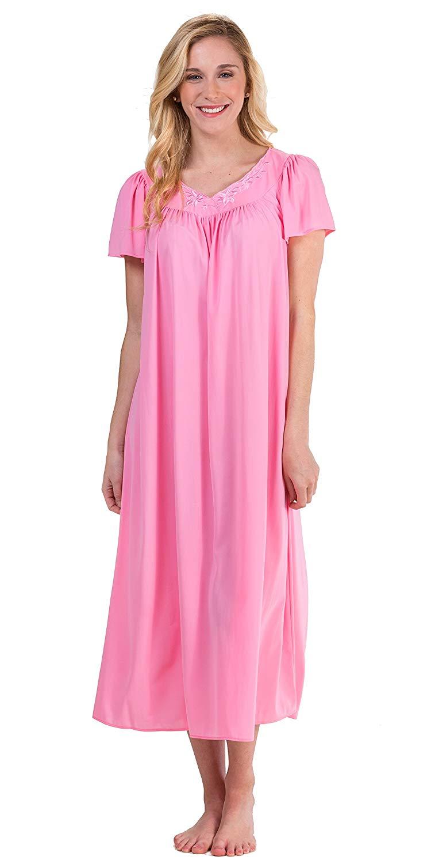 Get Quotations · Miss Elaine Classics Nylon Short Sleeve Ballet Nightgown 8fdf3d7b7