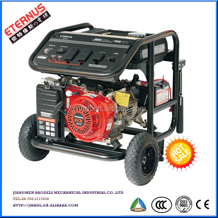 Hand-pushing with wheel 3kw Gasoline Generator BH5500XE