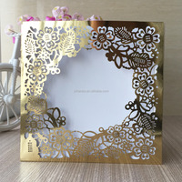21 Colors Flowers Envelope Style Casamento Invited Cards Laser Cut Wedding Invitations Party Decoration Pearl Paper
