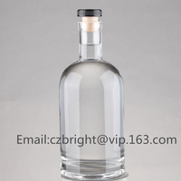 High quality white glass wine bottles glass spirit bottle vodka bottles