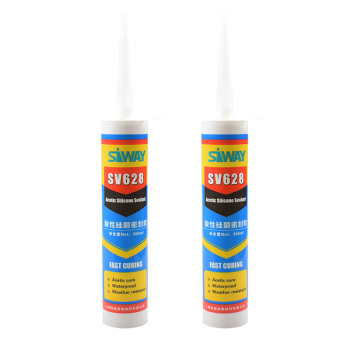 CLEAR ACETIC SILICONE SEALANT 300ML CARTRIDGE
