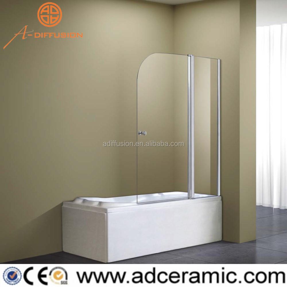 Double Door Pivot Folding Bathtub Shower Screen Buy Bathtub Shower