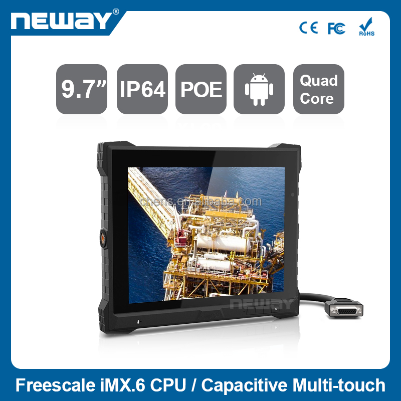 IPS Waterproof WinCE 7.0 Touch Screen Rugged Tablet PC with GPS Wifi Bluetooth and POE