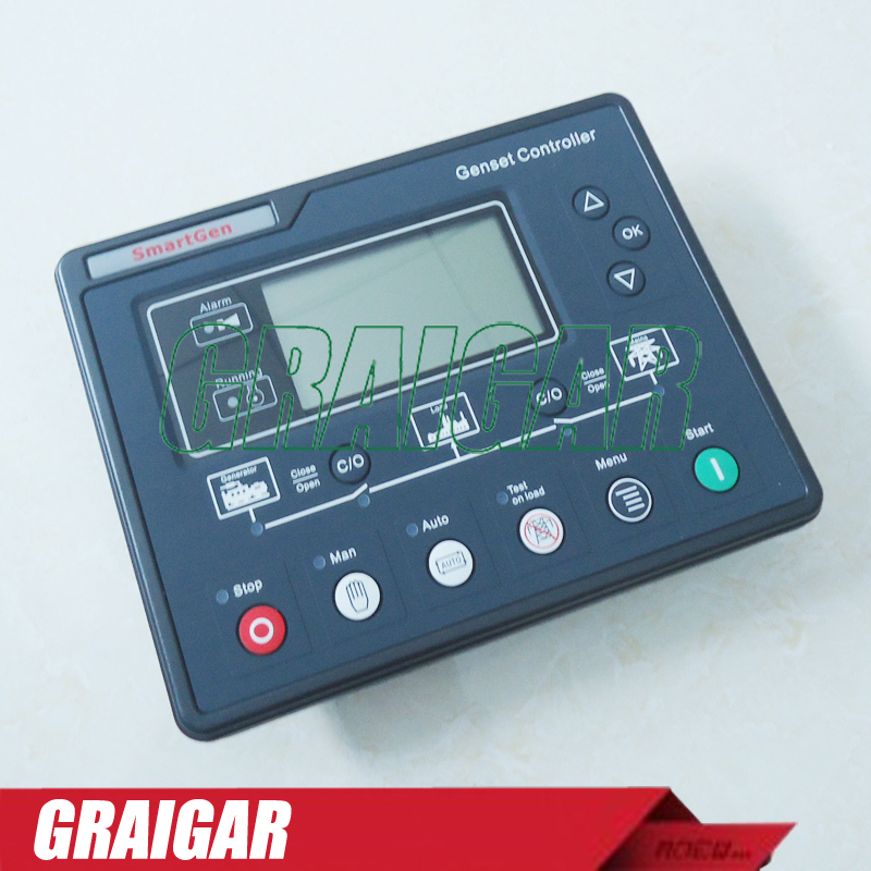 New Smartgen HGM6120U AUTO Generator Controller, display 3 phase voltage, 3 phase current