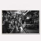 Retro Black And White Wolf Of Main Street Picture Print Home Decor Canvas Wall Painting