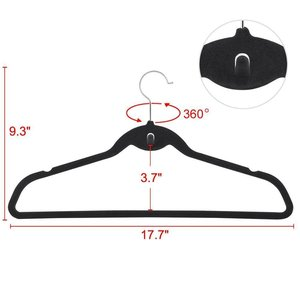 Non-slip non-marking flocking hangers Grey mini hook adult clothing store plastic hangers