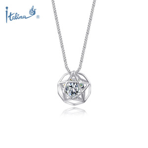 Fashion Jewelry Chain Manufacturer Wholesale Women Jewellery Hollow Star Shape Pendant with Cubic Zircon Stones Necklaces
