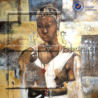 Wholesale Canvas Abstract African Woman Oil Painting