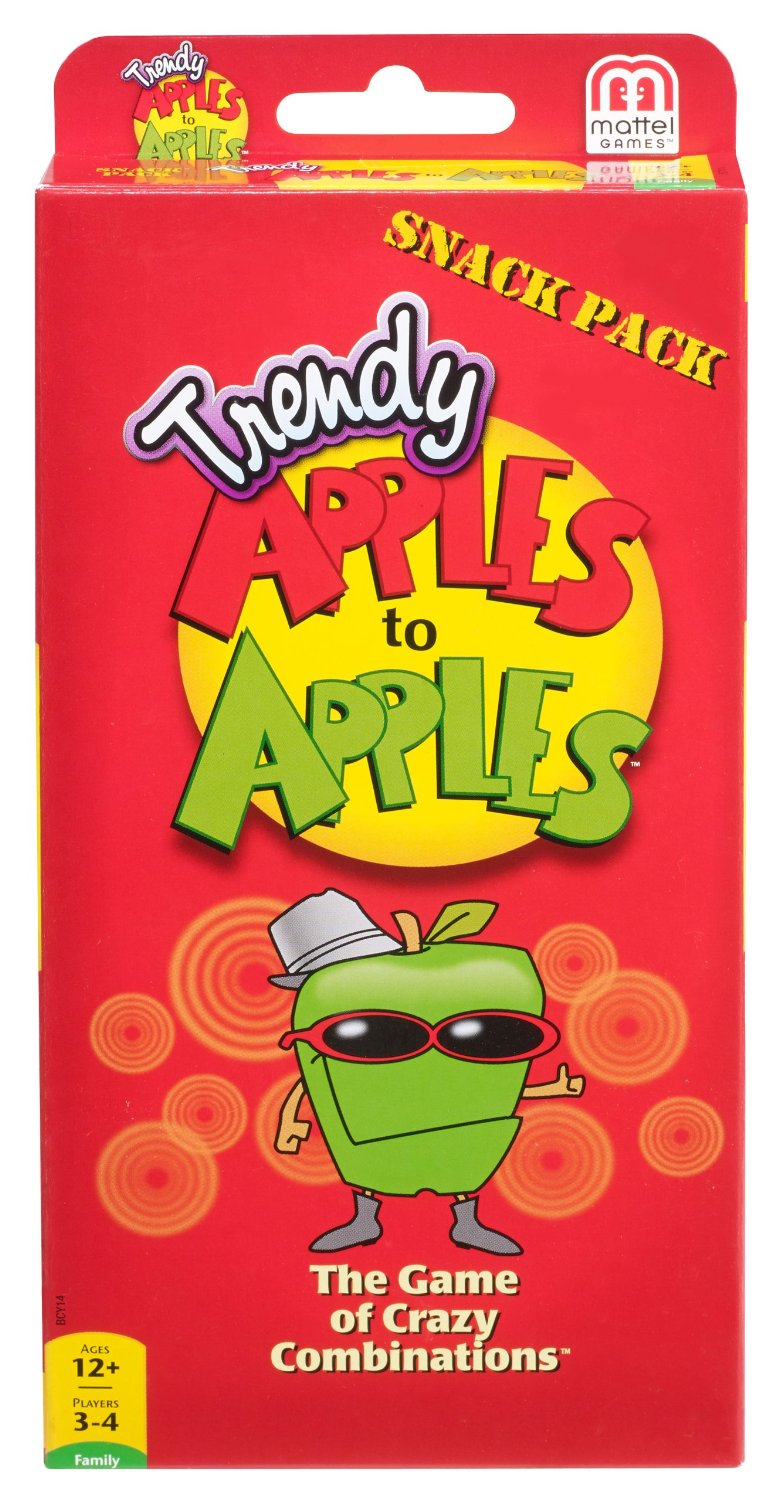 Apples to Apples Trendy Snack Pack Expansion Pack Card Game
