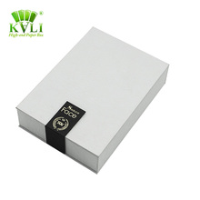 Artful a4 size cardboard bottle white box packaging with coated paper