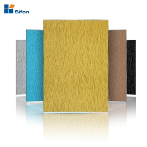 Auland decorative outdoor brush aluminum composite panel wall cladding alucobond