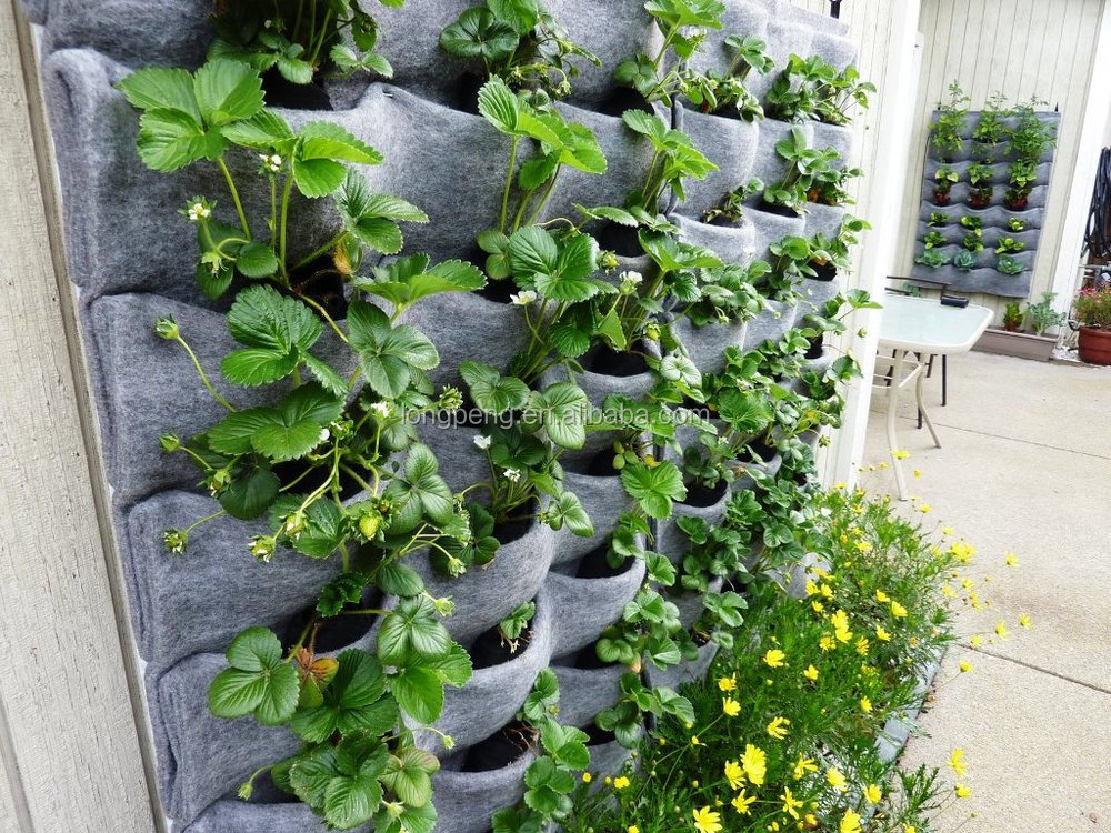 Wall Hanging Flower Pots Outdoor Wall Planters Flora Felt