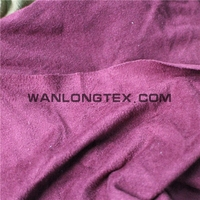 4 way stretch knitted fabric Weft knitted double sided brushed suede fabric