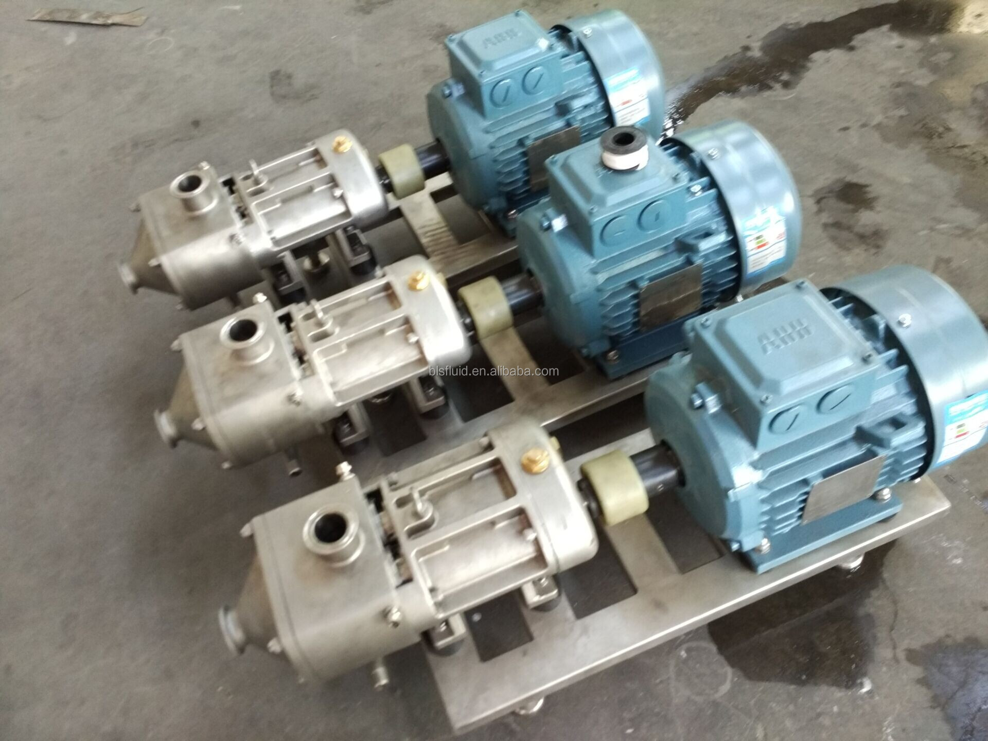 Top quality 316L twin screw food pump for chocolate paste