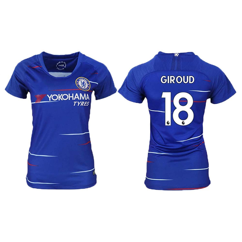 e30286bd2 Get Quotations · FASjey 2018/19 New Chelsea Giroud # 18 Women's Soccer  Jersey