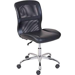 Get Quotations · Vinyl And Mesh Task Chair Multiple Colors Material Vinyl  And Mesh Padded Seat And Back Colored