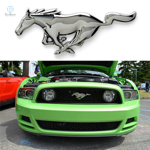 Best price chrome auto sticker badge emblem, horse emblems, animal car emblem