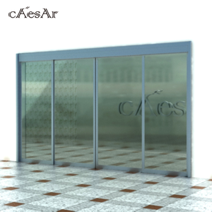 Caesar luxury durable automatic magnet entry sliding doors for mall building