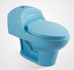 Economic High Efficiency One Piece Blue Toilet