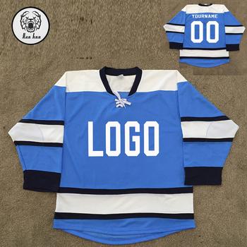 Custom Logo Printing Men Lace Up Color Block Hockey Jersey Hoodie ... 2d3259eaca8