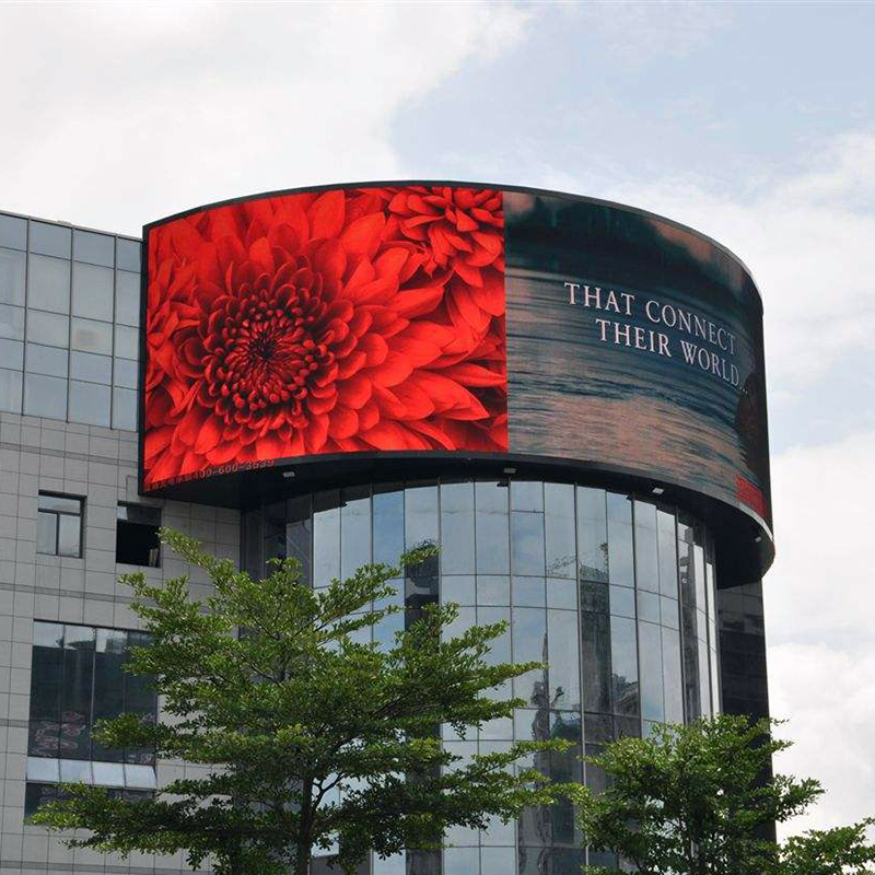 folding display p4 p5 p6 p8 p10 indoor rgb full color led circle soft led <strong>screen</strong>