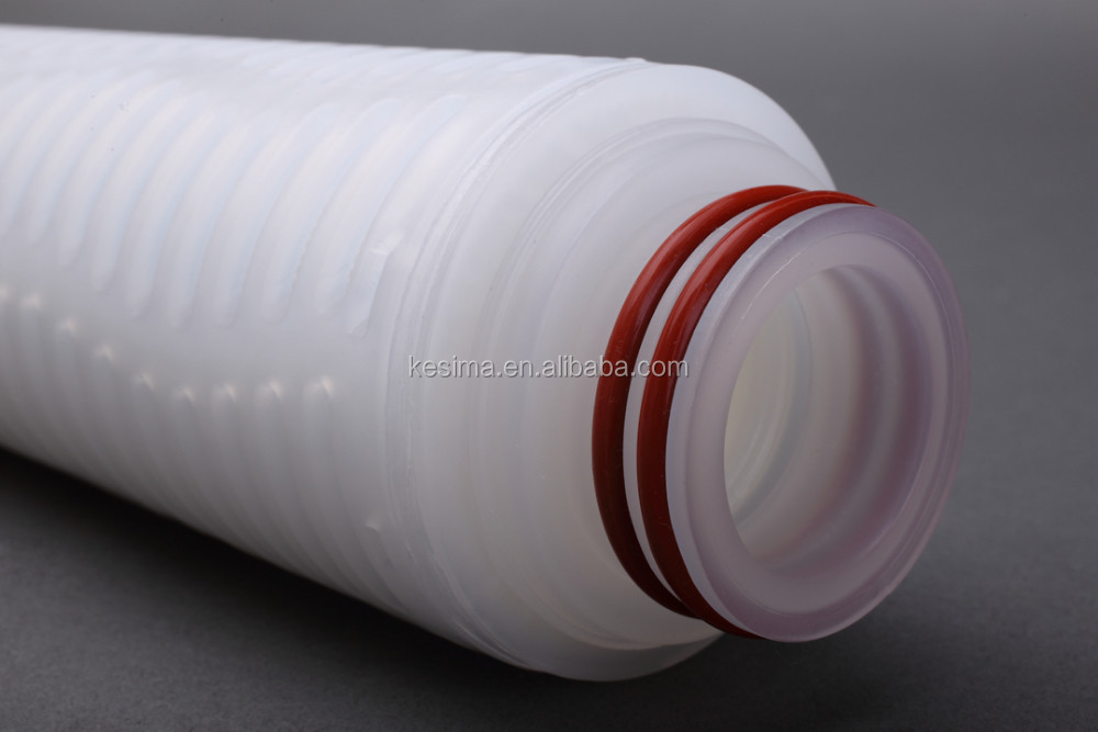 "DPP Series Pleated Depth Filter Cartridge 1 micron 30"" code 7 cartridge filter for vodka silver filtration"