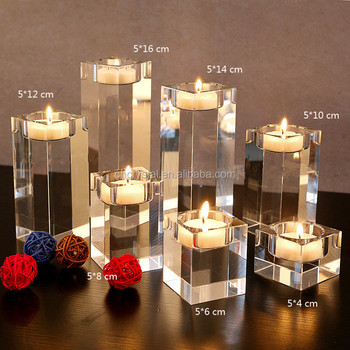 Dining Table Solid Crystal Candlestick Transpa Candle