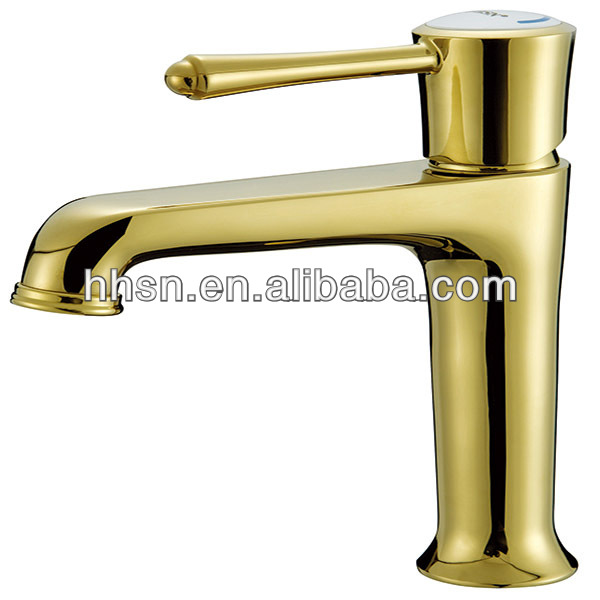 Luxury single-handle golden faucet&mixer for washroom