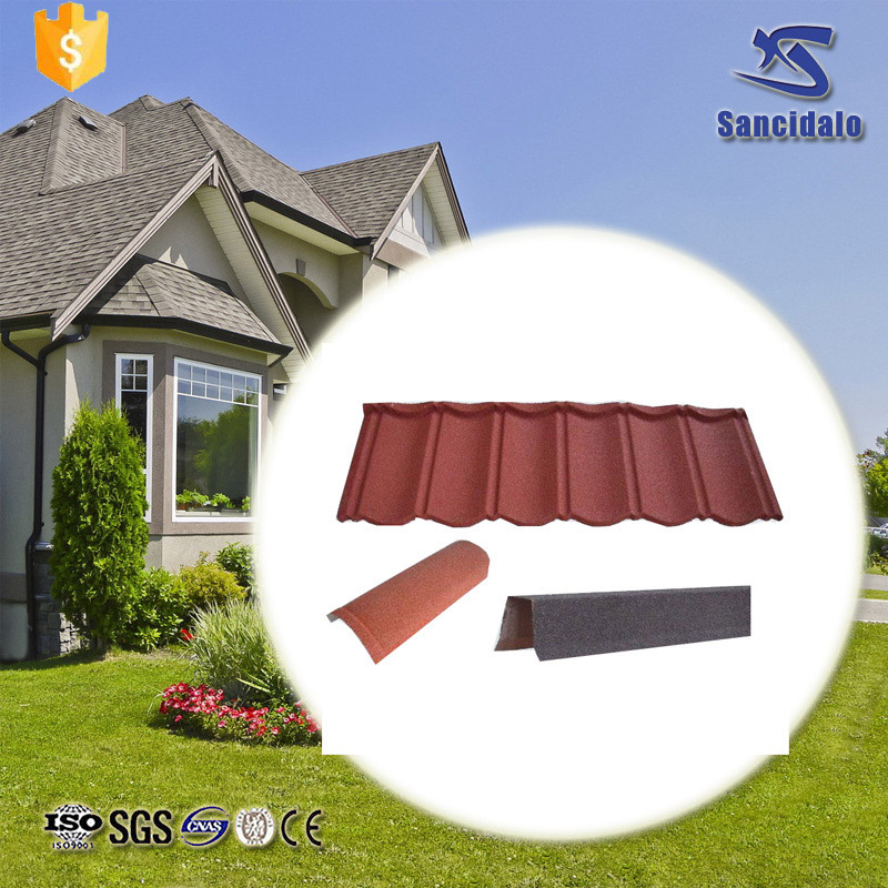 2017 New design shingles solar colored metal roof tile wholesale online