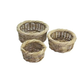 31c071e08c418 Small Round Wicker Basket Storage In Grey Color - Buy Small Round ...