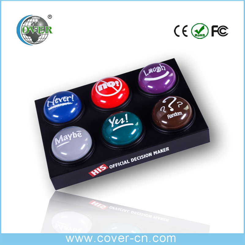 Custom Six sound talking button for office toys