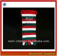 Stripe Christmas 5/Five Toe Crocheted Socks Stockings