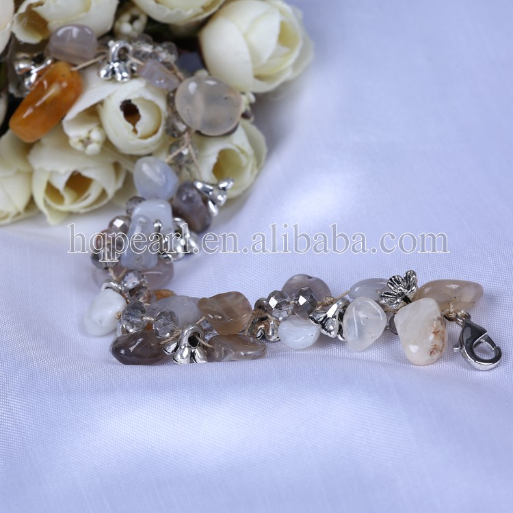 Wholesale natural stone jewelry bead jewelry design fashionable jewelry necklace earring sets