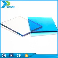 Transparent polycarbonate solid sheet plastics for doors and windows