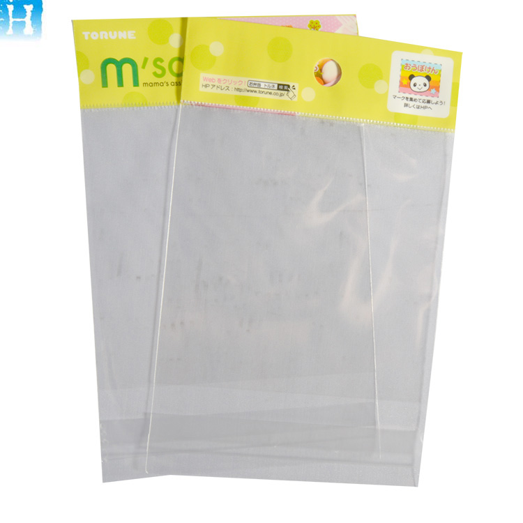 Custom logo Header bag with Self Adhesive Label printing Plastic bag with header for hair accessory