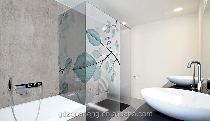 Bathroom Glass Partition sr6 6mm bathroom glass partition digital printing glass for hotel