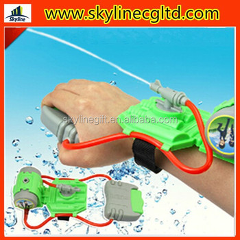 Plastic min arm wrist cheap water gun, kid's toy summer water gun for sale