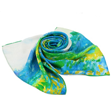 chinese digital print custom design silk scarf